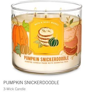 Pumpkin snickerdoodle 3 wick candle